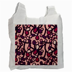 Pink And Purple Pattern Recycle Bag (two Side)  by Valentinaart