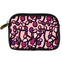 Pink And Purple Pattern Digital Camera Cases by Valentinaart