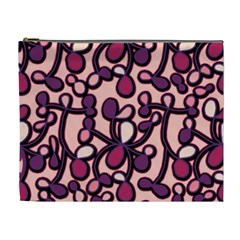 Pink And Purple Pattern Cosmetic Bag (xl)