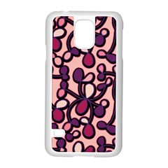 Pink And Purple Pattern Samsung Galaxy S5 Case (white) by Valentinaart