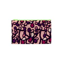 Pink And Purple Pattern Cosmetic Bag (xs) by Valentinaart
