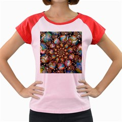 Marbled Spheres Spiral Women s Cap Sleeve T Shirt