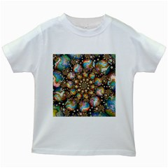 Marbled Spheres Spiral Kids White T Shirts