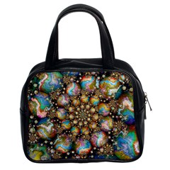 Marbled Spheres Spiral Classic Handbags (2 Sides)