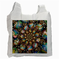 Marbled Spheres Spiral Recycle Bag (two Side)  by WolfepawFractals