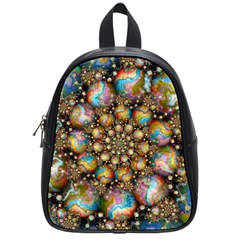 Marbled Spheres Spiral School Bags (small)  by WolfepawFractals