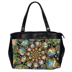Marbled Spheres Spiral Office Handbags (2 Sides)