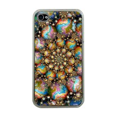 Marbled Spheres Spiral Apple Iphone 4 Case (clear)