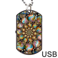 Marbled Spheres Spiral Dog Tag Usb Flash (two Sides)