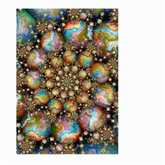 Marbled Spheres Spiral Large Garden Flag (two Sides) by WolfepawFractals