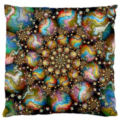 Marbled Spheres Spiral Large Cushion Case (two Sides)