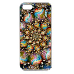 Marbled Spheres Spiral Apple Seamless Iphone 5 Case (clear) by WolfepawFractals