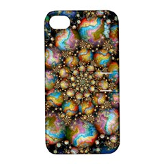 Marbled Spheres Spiral Apple Iphone 4/4s Hardshell Case With Stand