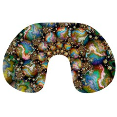 Marbled Spheres Spiral Travel Neck Pillows