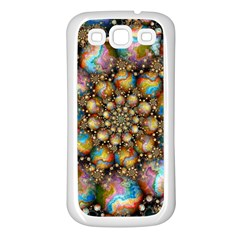 Marbled Spheres Spiral Samsung Galaxy S3 Back Case (white)