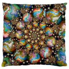 Marbled Spheres Spiral Large Flano Cushion Case (two Sides) by WolfepawFractals