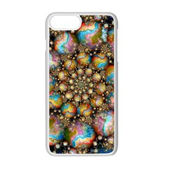 Marbled Spheres Spiral Apple Iphone 7 Plus White Seamless Case