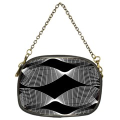 Wavy Lines Black White Seamless Repeat Chain Purses (two Sides)  by CrypticFragmentsColors