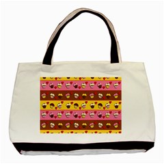 Cupcakes Pattern Basic Tote Bag by Valentinaart