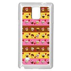 Cupcakes Pattern Samsung Galaxy Note 4 Case (white)
