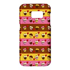 Cupcakes Pattern Samsung Galaxy S7 Hardshell Case  by Valentinaart
