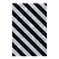 Stripes3 Black Marble & Gray Marble (r) Shower Curtain 48  X 72  (small) by trendistuff