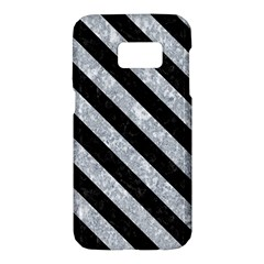 Stripes3 Black Marble & Gray Marble (r) Samsung Galaxy S7 Hardshell Case
