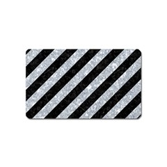 Stripes3 Black Marble & Gray Marble Magnet (name Card) by trendistuff