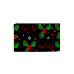 Happy Holidays Pattern Cosmetic Bag (small)  by Valentinaart