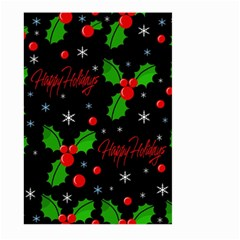Happy Holidays Pattern Large Garden Flag (two Sides) by Valentinaart