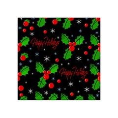 Happy Holidays Pattern Acrylic Tangram Puzzle (4  X 4 ) by Valentinaart