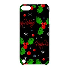 Happy Holidays Pattern Apple Ipod Touch 5 Hardshell Case With Stand by Valentinaart
