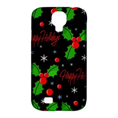 Happy Holidays Pattern Samsung Galaxy S4 Classic Hardshell Case (pc+silicone) by Valentinaart