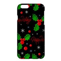 Happy Holidays Pattern Apple Iphone 6 Plus/6s Plus Hardshell Case by Valentinaart