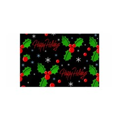 Happy Holidays Pattern Satin Wrap by Valentinaart