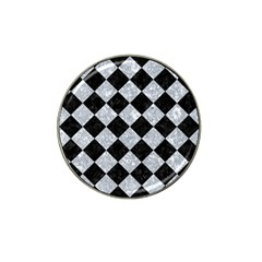 Square2 Black Marble & Gray Marble Hat Clip Ball Marker (10 Pack) by trendistuff