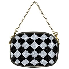 Square2 Black Marble & Gray Marble Chain Purse (one Side) by trendistuff