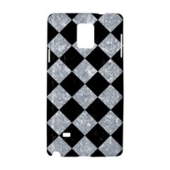 Square2 Black Marble & Gray Marble Samsung Galaxy Note 4 Hardshell Case by trendistuff