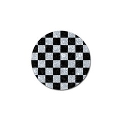 Square1 Black Marble & Gray Marble Golf Ball Marker by trendistuff