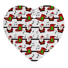 Xmas Song Pattern Ornament (heart)