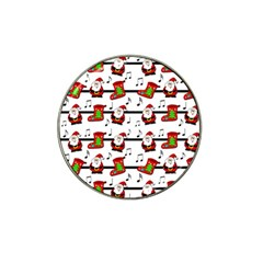 Xmas Song Pattern Hat Clip Ball Marker by Valentinaart