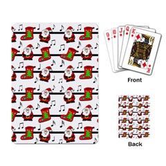 Xmas Song Pattern Playing Card by Valentinaart