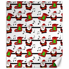 Xmas Song Pattern Canvas 8  X 10  by Valentinaart