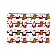Xmas Song Pattern Cosmetic Bag (large)  by Valentinaart
