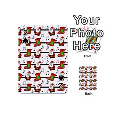 Xmas Song Pattern Playing Cards 54 (mini)  by Valentinaart