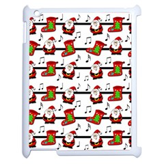 Xmas Song Pattern Apple Ipad 2 Case (white) by Valentinaart