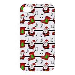 Xmas Song Pattern Apple Iphone 4/4s Hardshell Case by Valentinaart