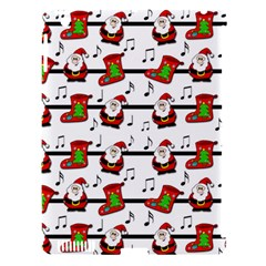Xmas Song Pattern Apple Ipad 3/4 Hardshell Case (compatible With Smart Cover)