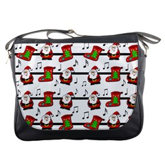 Xmas Song Pattern Messenger Bags by Valentinaart