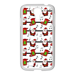 Xmas Song Pattern Samsung Galaxy S4 I9500/ I9505 Case (white) by Valentinaart